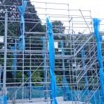 【20日目】足場組み立て工事