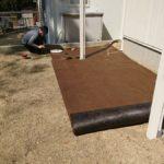 庭づくり(3) 防草シートを敷いてみた